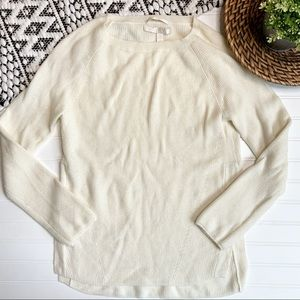 NORDSTROM COLLECTION Cream Cashmere Sweater